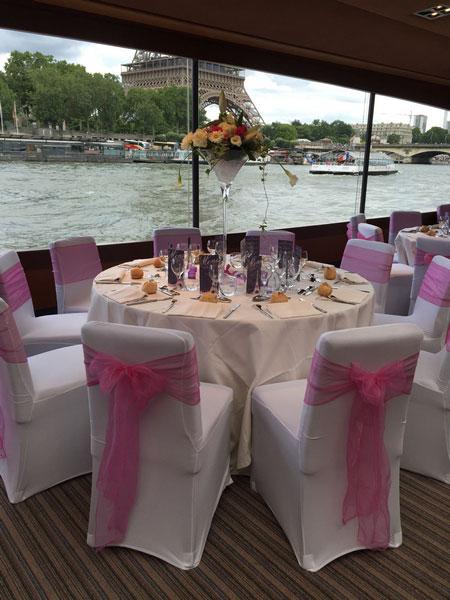 se marier sur un bateau sur la seine paris - Peniche Mariage Paris